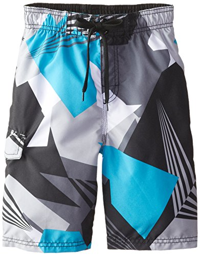 Kanu Surf Little Boys' Vertigo Swim Trunks, Black, Large (7)