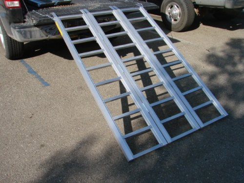 TMS RP-TRIFOLD-ALR6945B 69-Inch by 45-Inch Super-Wide Tri-Fold ATV Loading Ramp,  Aluminum