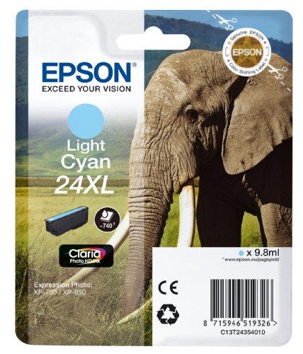 Epson T2435 Tintenpatrone Elefant, Singlepack, hell cyan