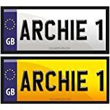 Coolrideplates® Little Tikes Cozy Coupe Kids Personalised Rear Number Plate Self-Adhesive Stickers *SIMPLY ADD A GIFT MESSAGE WITH THE NAME REQUIRED WHEN ORDERING*