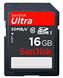 SanDisk Ultra 16 GB SDHC Class 10 Flash Memory Card 30MB/s SDSDU-016G-U46