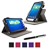 """rooCASE Samsung Galaxy Tab 3 7.0 Case - Dual View Multi-Angle Stand Tablet 7-Inch 7"""" Cover - BLACK ~ rooCASE"""