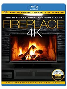 FIREPLACE 4K - The Ultimate Fireplace Experience (Limited Edition - Filmed in 4K ULTRA HD) [Blu-ray] [NTSC]
