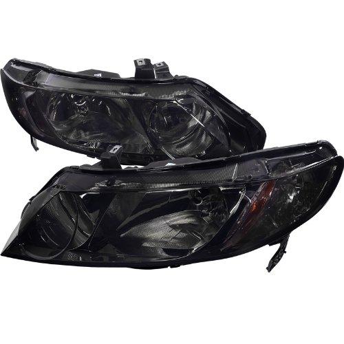 Spec-D Tuning 2LH-CV064G-RS Honda Civic 4Dr Dx Lx Ex Oem Smoke Head Lights Lamps Pair (Honda Civic Lx Parts compare prices)