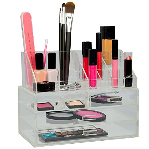 Cosmetic Organizer w/ Drawers & Removable Lipstick Organizer (Removable Acrylic Drawers compare prices)
