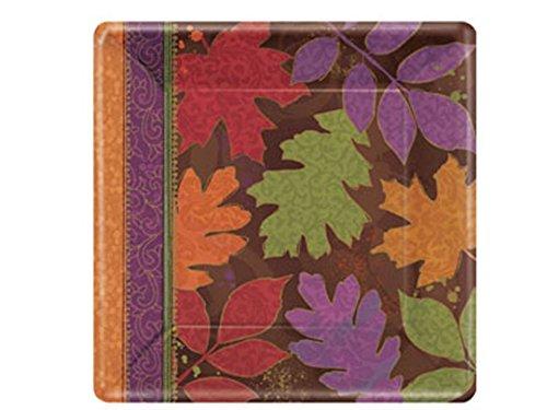 "Fall Forward 7"" Square Plates - 1"