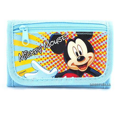 Disney Mickey Mouse Light Blue Trifold Wallet