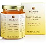 BeeAlive Sweet Energy Formula Royal Jelly in Pure Honey, 8 oz