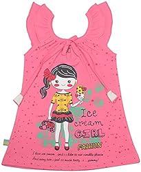 Absorba Baby Girls' Dress ( Pink_4-5 Years ,60009)