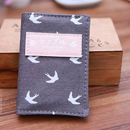 Great Value Desk Accessories Lovely Small Animals Denim And Plastic Card Case Holder Storage Bag Coffee