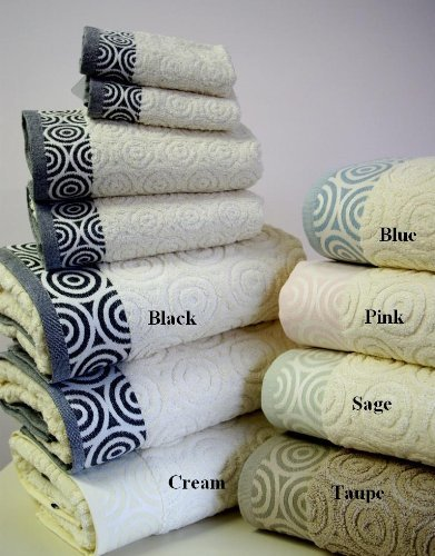 Egyptian Cotton Factory Store 6 pezzi 100% cotone egiziano, Set asciugamani Weaves Jacquard acqua beige