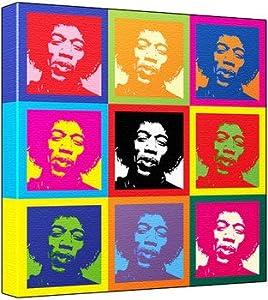 Jimi Hendrix Pop Art Print 3 Tone Andy Warhol S Che