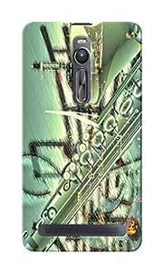 CimaCase Saxophone Designer 3D Printed Case Cover For Asus Zenfone 2