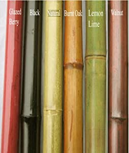 "Green Floral Crafts Bamboo Poles 6' by 1/2"" to 3/4"" diameter, Set of 7 -Matt Berry Red"