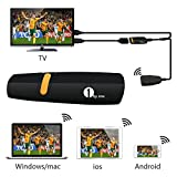 1Byone Wireless HDMI WiFi Dongle Share Videos Images Docs Live Camera Musics from All Smart Devices to TV, Monitor... by 1Byone