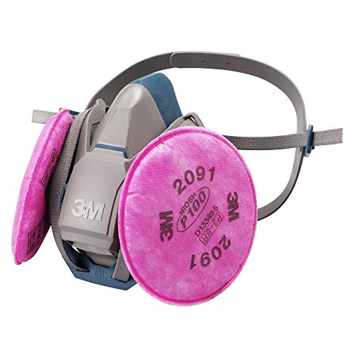 3M 取替え式防じんマスク 6500QL/2091-RL3 ミディアム(防毒マスク兼用面体)6500QL/2091-RL3M