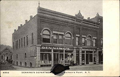Denning'S Department Store Whitney'S Point, Ny Original Vintage Postcard