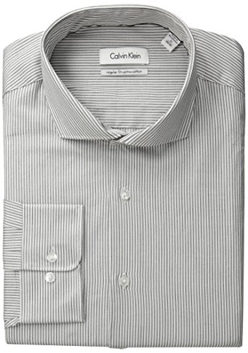 Calvin-Klein-Mens-Regular-Fit-Grey-White-Stripe