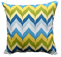 "Indoor/Outdoor 16"" Square Pillow in Glamis Spa by World Pillow"