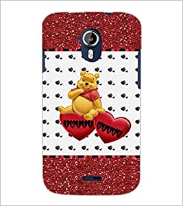 PrintDhaba Sweet Heart D-1286 Back Case Cover for MICROMAX A116 CANVAS HD (Multi-Coloured)