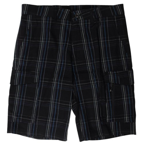 Mens Nike Blue Plaid Smart Short Cotton Chino Cargo Shorts Waist Size w30