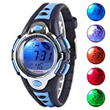 Kid Watch Multi Function Digital LED Sport 50M Waterproof Electronic Digital Watches for Boy Girl Children Gift Blue