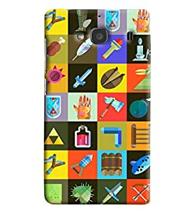 Blue Throat Different Tools In Square Printed Designer Back Cover For Xiaomi Redmi 2s