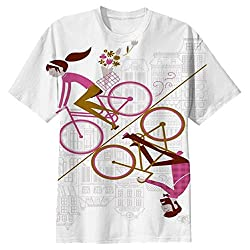 Snoogg Mirror Cycling 2557 Mens Casual All Over Printed T Shirts Tees