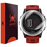 Skinomi® TechSkin [6-Pack] - Garmin Fenix 3 Screen Protector Premium HD Clear Film with Free Lifetime Replacement Warranty / Ultra High Definition Invisible and Anti-Bubble Crystal Shield