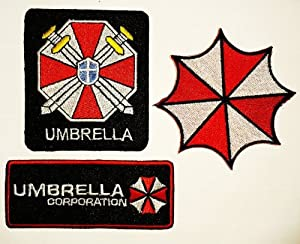resident umbrella corporation gestickte patches