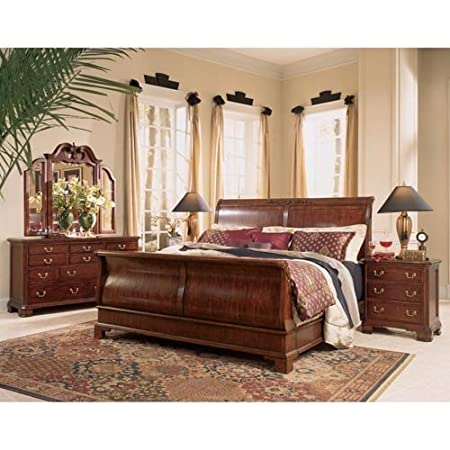 Sleigh bed frame on sale home decor and furniture deals - American drew cherry bedroom set ...