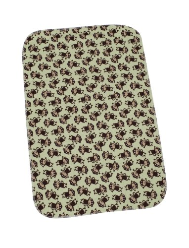 Carter's Keep Me Dry Flannel Bassinet Pad, Monkey