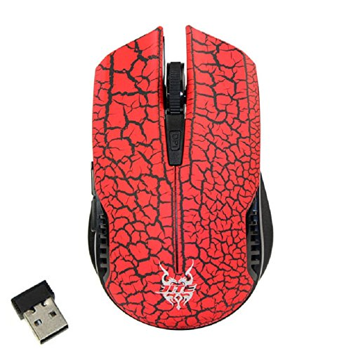 Sannysis(Tm) Wireless 2.4Ghz Silent Noiseless Gaming Mouse Mice With Nano Usb Receiver(Red)