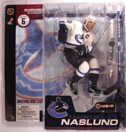 McFarlane Toys NHL Sports Picks Series 6 Action Figure: Markus Naslund (Vancouver Canucks) White Jersey VARIANT