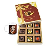 Chocholik Belgium Chocolates - 9pc Divine Assorted Treat To Your Friend With Diwali Special Coffee Mug - Diwali...