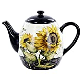 French Sunflowers Teapot