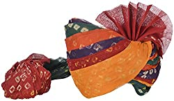 Jodhpur Royals Mens Cotton Rajasthani Turban (Multi-Color)