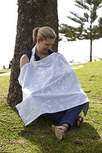 Jasmine & Co Breastfeeding Cover Made From Sustainably Sourced 100% Premium Cotton. The Best Quality Nursing Apron For Feeding Baby In Privacy Wherever You Are. Thoughtfully Designed To Wrap And Shield Baby So You Can Nurse, Breastfeed Or Breast Pump Discreetly When Out Socializing And In Public. Top Baby Shower Gift!