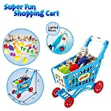 Ginzick Toddlers Super Fun Shopping Cart With Pretend Play Food Lights And Sounds