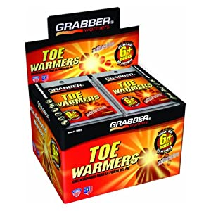 Grabber Outdoors 6 Hour Toe Warmers - 1 Box of 40 Pair by GRABBER WARMERS