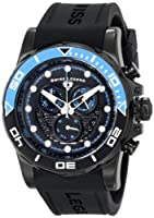 Avalanche Chronograph Black Silicone Strap & Dial Light Blue Accents from Swiss Legend