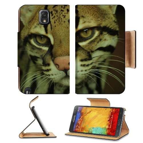 Fisher Cat Face Eyes Mottled Samsung Galaxy Note 3 N9000 Flip Case Stand Magnetic Cover Open Ports Customized Made To Order Support Ready Premium Deluxe Pu Leather 5 15/16 Inch (150Mm) X 3 1/2 Inch (89Mm) X 9/16 Inch (14Mm) Liil Note Cover Professional No front-1003763