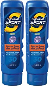 Coppertone Sport Lotion SPF 30 Sunscreen-8 oz, 2 pack