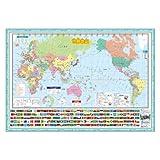 デビカ 書いて消せる世界地図 070185