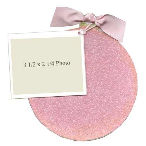 Pink Glitter Christmas Ornament Die-Cut Card, Pack Of 10 front-941145