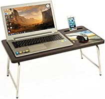 Bluewud Riona Bed Laptop Table with inbuilt Mobile Stand & Mousepad - RioDesk... RD-AW-CD
