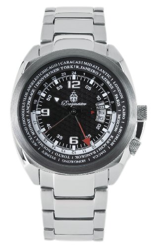 Burgmeister Stockholm Bm503-121 Gents Quartz Analogue Wristwatch  Stainless Steel Bracelet Black Dial Date 2Nd Time Zone
