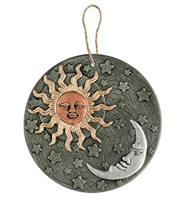 Terracotta Sun & Moon Wall Art by Gardman