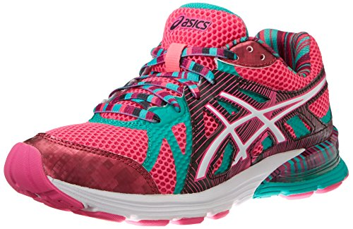 ASICS Women's Gel-Preleus Running Shoe,Hot Pink/Snow/Emerald,8 M US
