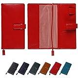 [牛本革]ほぼ日手帳WEEKS専用 手帳カバー ベルト付き Business Leather Factory (ロイヤルレッド)